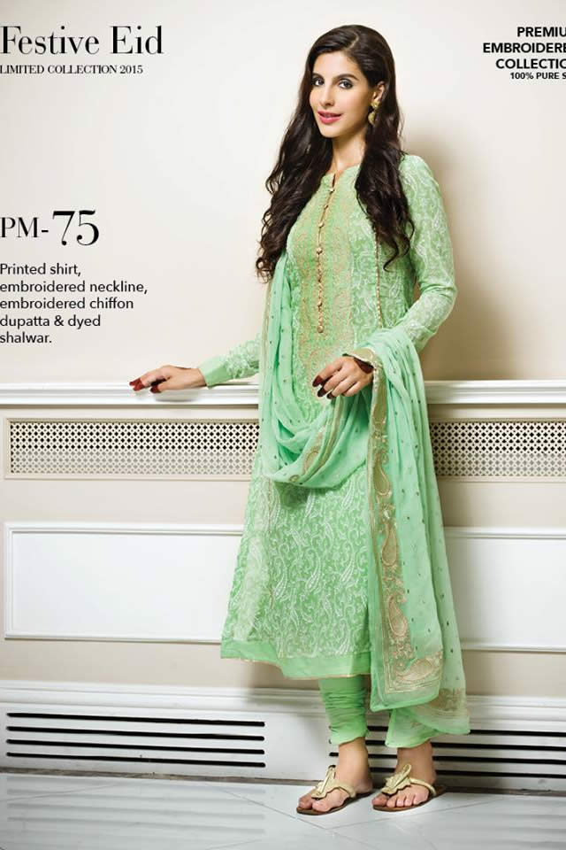 2015 Summer Eid Lawn Gul Ahmed Formal Collection Pictures