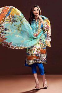 Gul Ahmed Winter Silk Dresses 2016