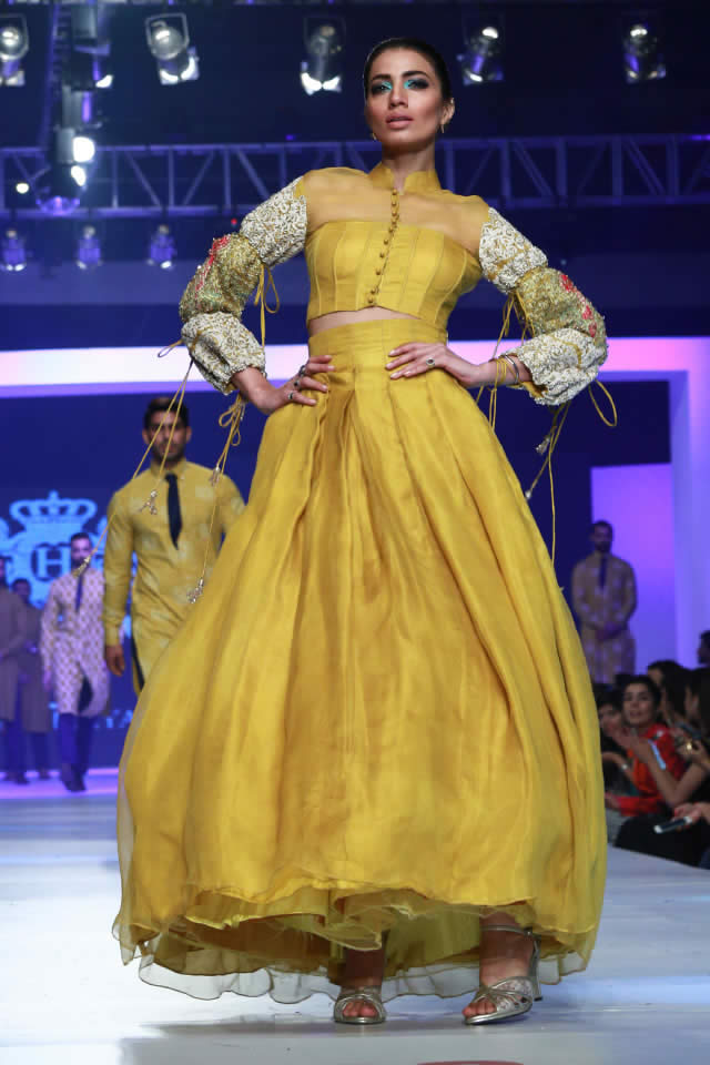 HSY PFDC Sunsilk Fashion Week 2015 INK Collection
