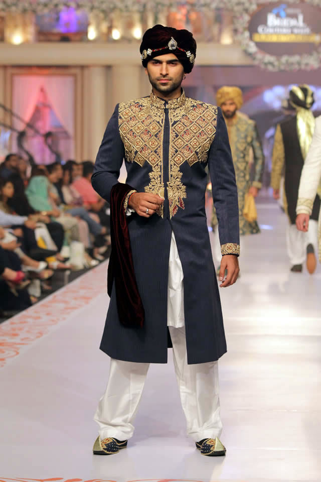 House of Arsalan Dresses Telenor Bridal Couture Week 2015 Images