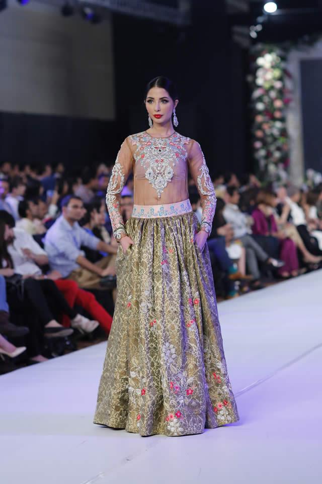 2015 PFDC Loreal Paris Bridal Week Kamiar Rokni Formal Dresses Pics