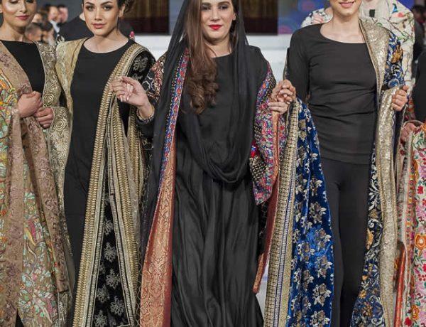 Komal Nasir Winter Shawl Collection at FPW10 London 2016