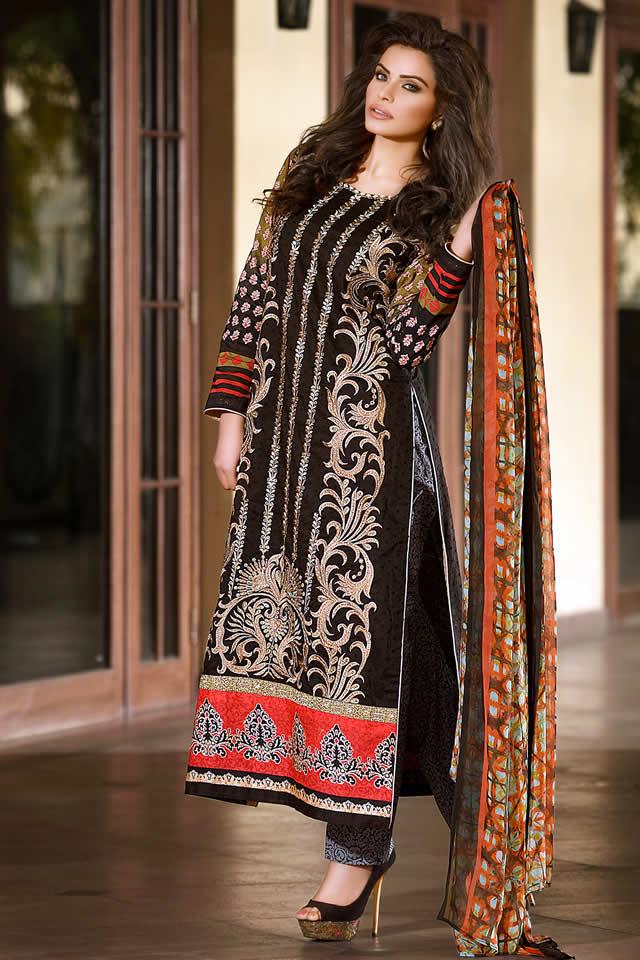 Lala Textiles Eid Dresses collection 2016 Photos