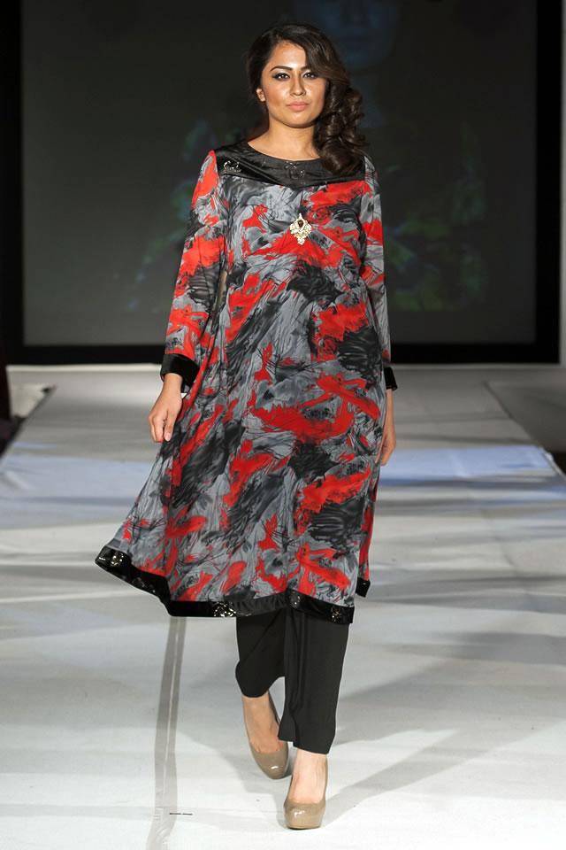 Pakistan Fashion Extravaganza London 2015 Madiha Gohar Dresses Collection