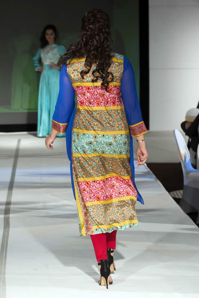 Pakistan Fashion Extravaganza London 2015 Madiha Gohar Formal Collection