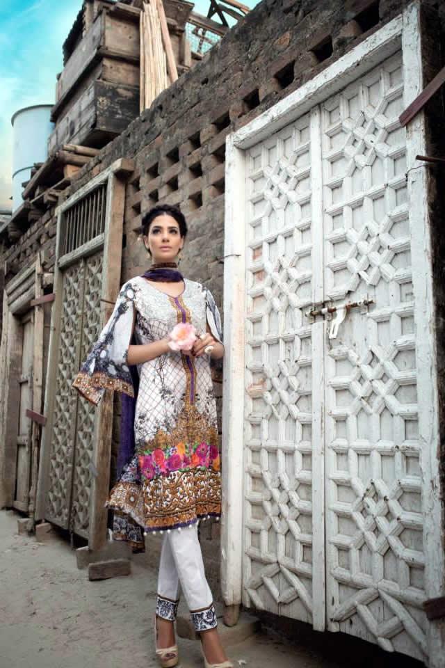 2015 Summer Eid Maria B Formal Dresses Pics
