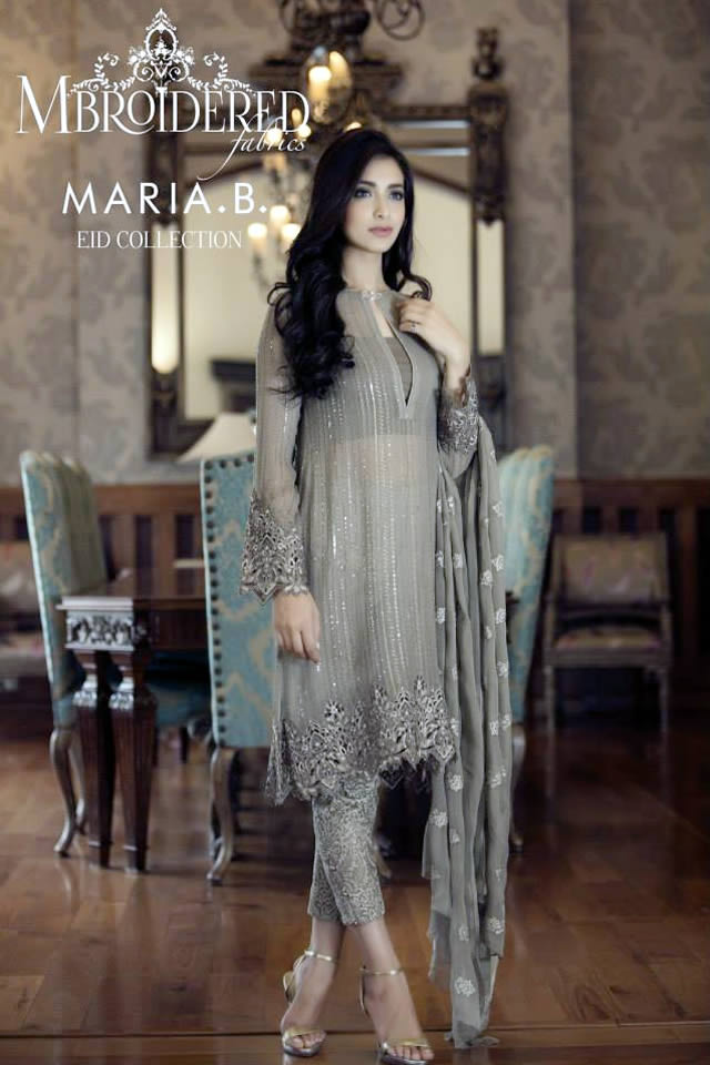 8fd613cb47 Maria B Summer Mbroidered Eid Collection 2015