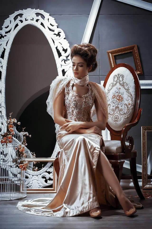 Pehnou Party Wear Dresses collection 2016 Images