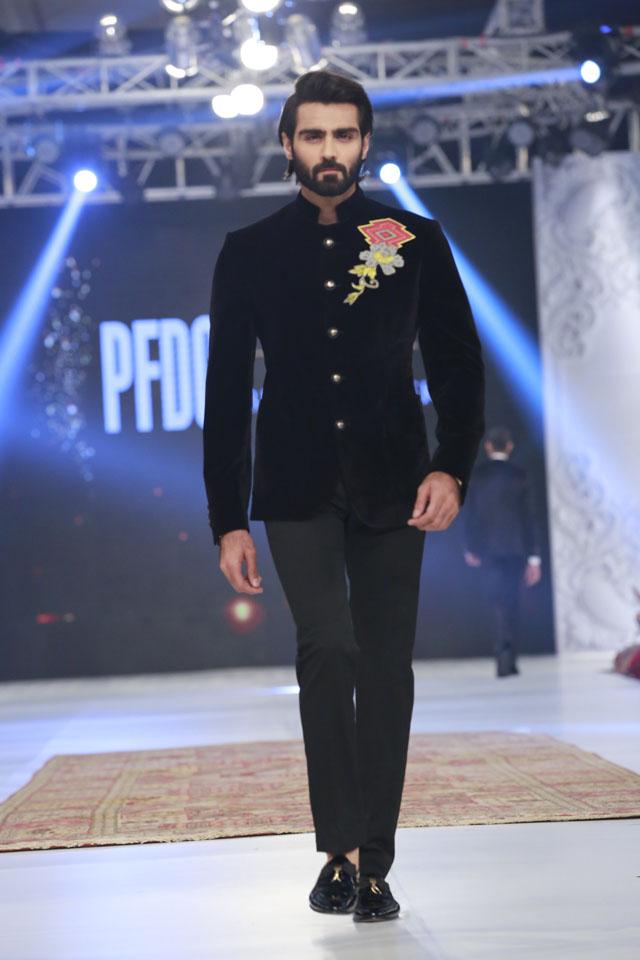 Black Party wear by Omer Farooq