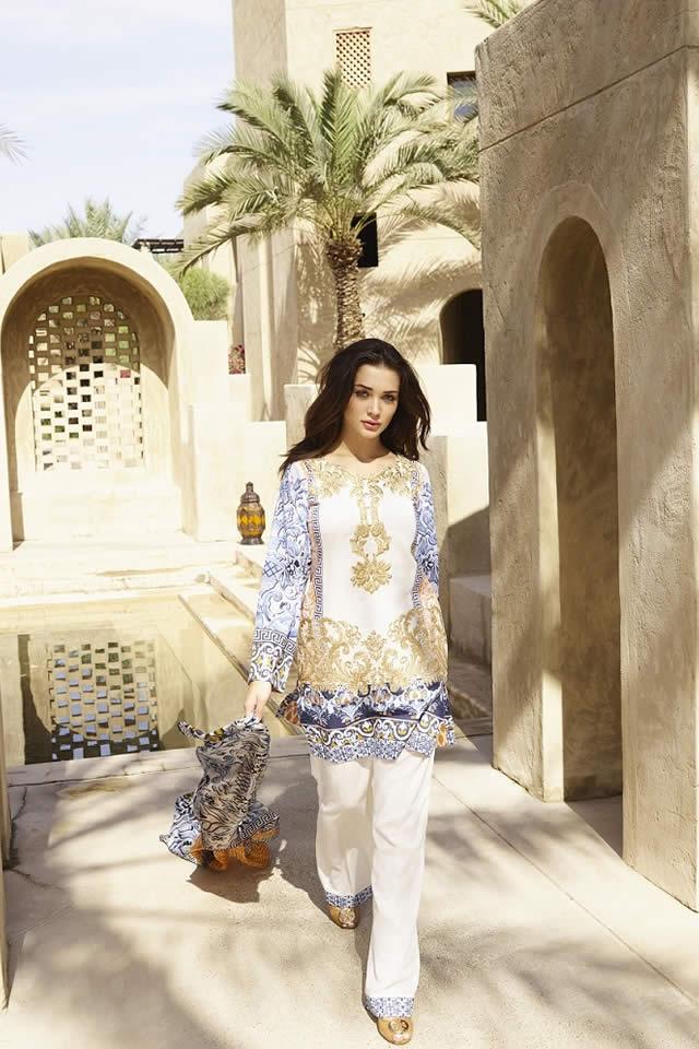 Saira Rizwan Summer Lawn collection 2016 Images