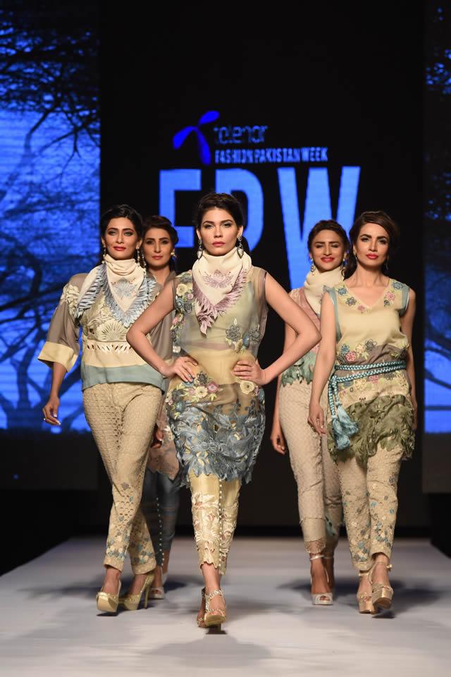 2015 Telenor Fashion Pakistan Week Sanam Chaudhri SS Collection