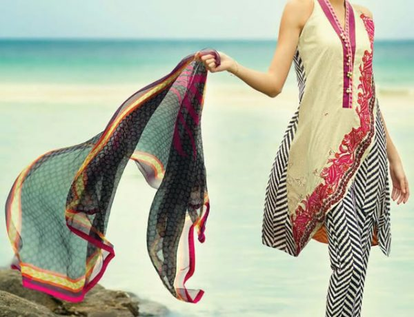 Sania Maskatiya Lawn Collection in Collaboration with Alkaram
