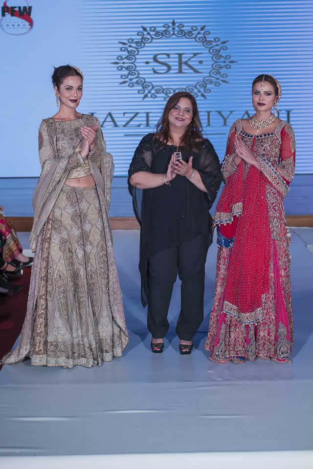 2015 Pakistan Fashion Week 8 London Shazia Kiyani Formal Dresses Pics