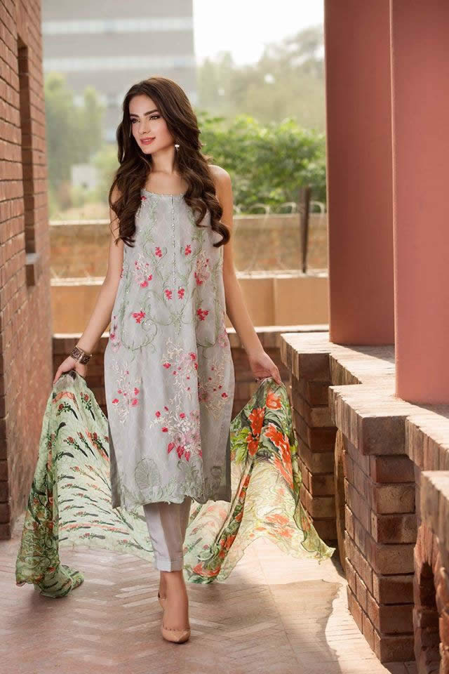 Fashion Brand So Kamal Summer Chiffon Dresses collection 2016 Pictures