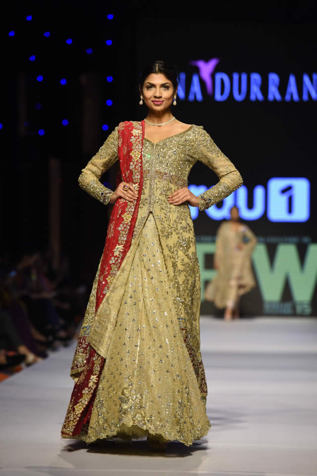 2015 Fashion Pakistan Week W/F Tena Durrani Latest Collection Images