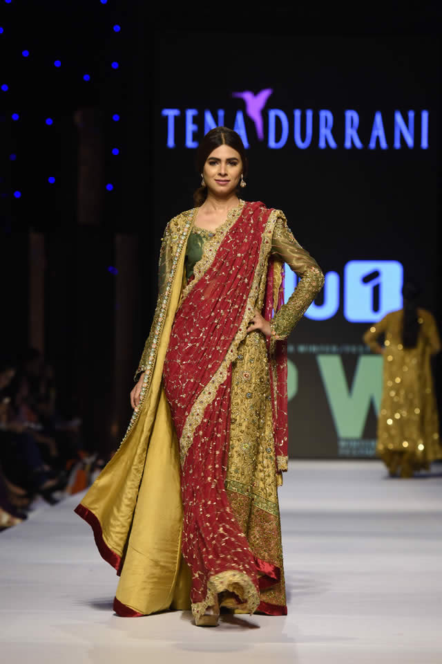 2015 Fashion Pakistan Week W/F Tena Durrani Dresses Collection Photos