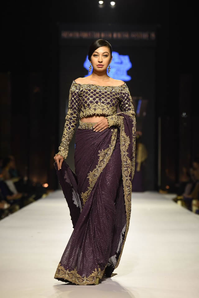 Umar Sayeed Dresses Fashion Pakistan Week WF 2015 Images