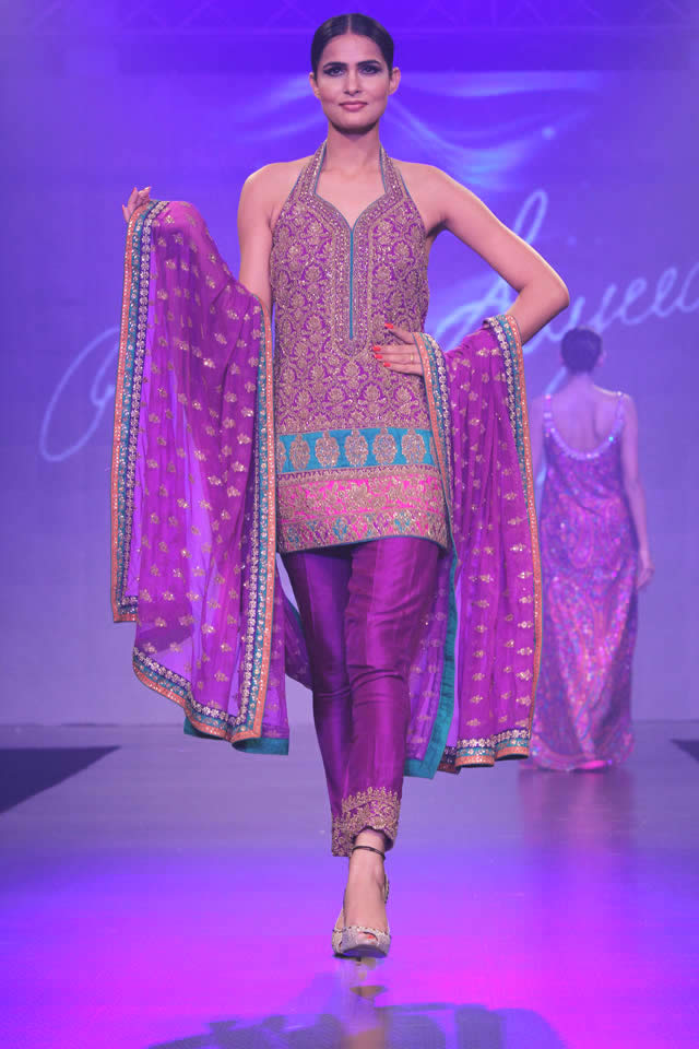 2015 Shaan-e-Pakistan Fashion Show Umar Sayeed Formal Dresses Pics