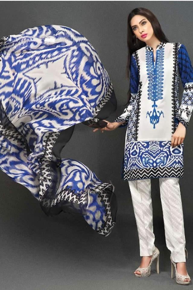 Deepak Perwani Dresses collection Zeniya Lawn 2015