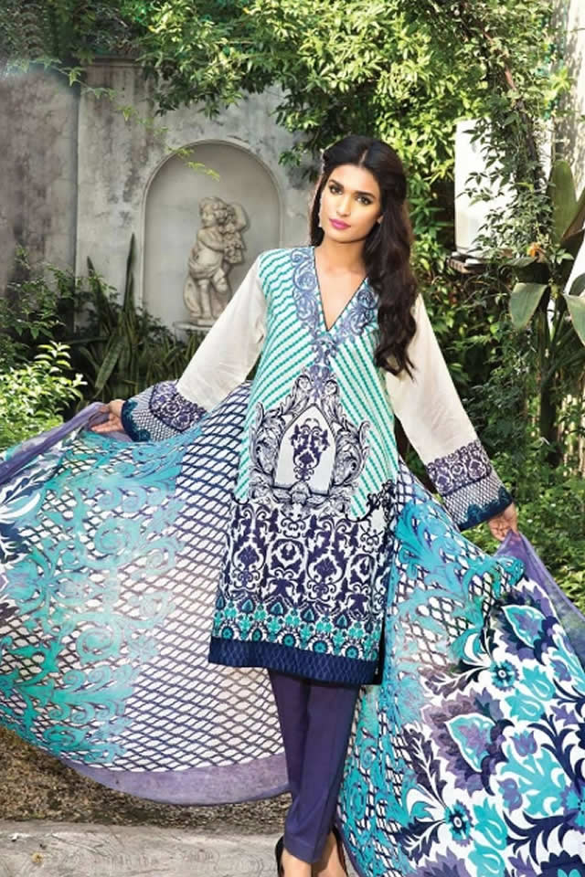 2015 Zeniya Lawn 2015 Deepak Perwani Dresses Pictures