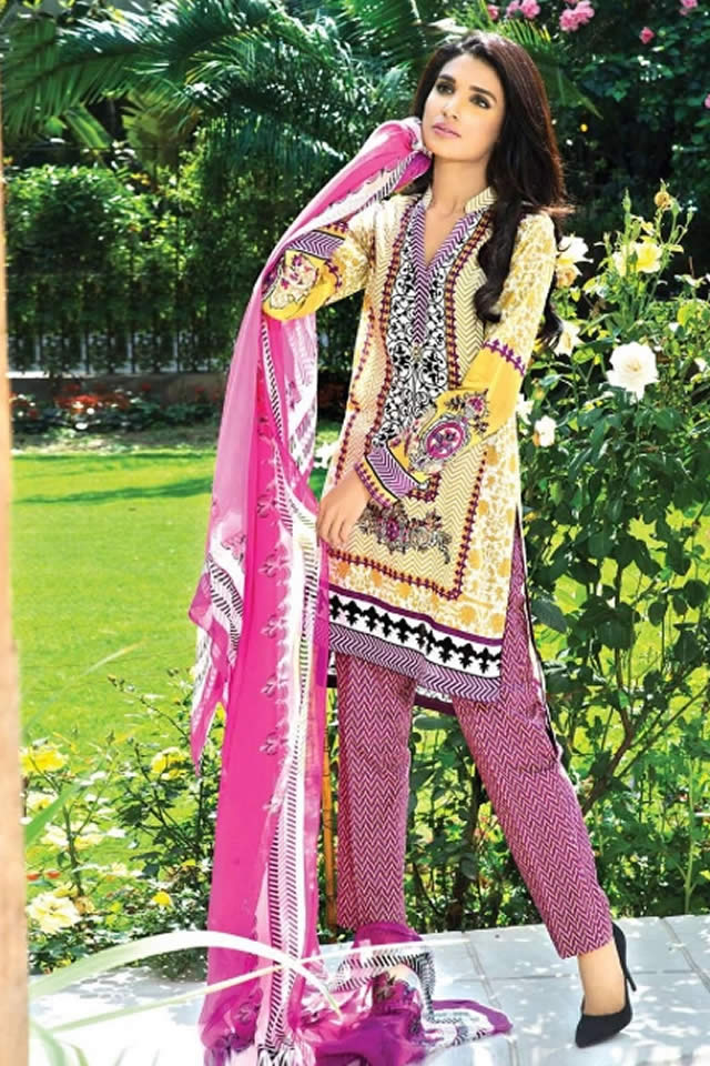 Deepak Perwani Latest Lawn Dresses 2015