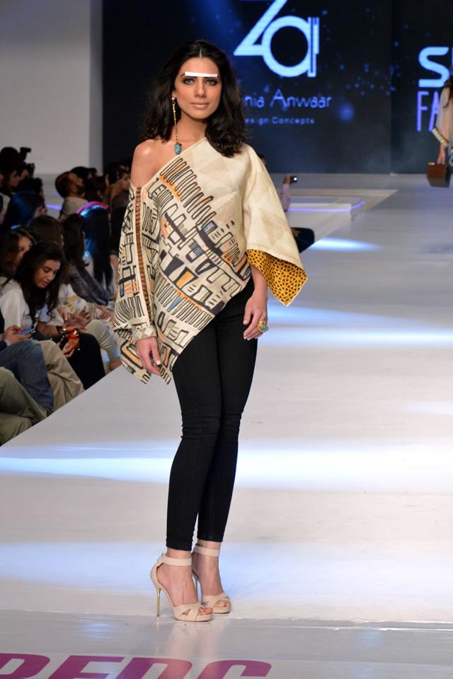 Zonia Anwaar PFDC Sunsilk Fashion Week collection 2015 Images