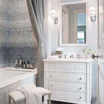 A Bathroom with Dramatic Mosaic Tile