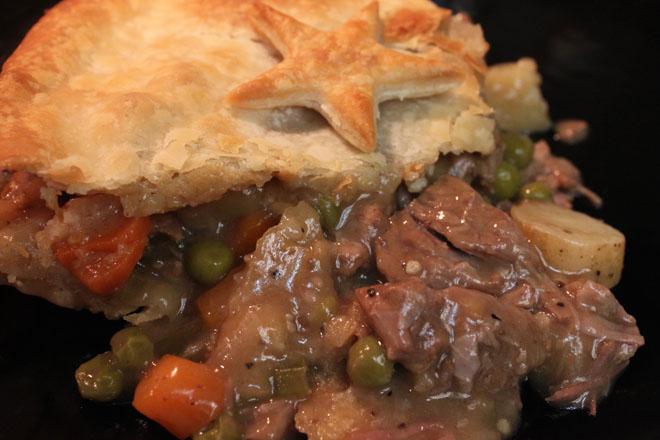 Beef Pot Pie in Crepes