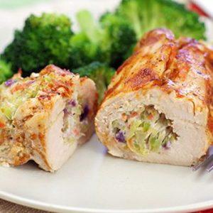 Cheesy BBQ Chicken Rollups