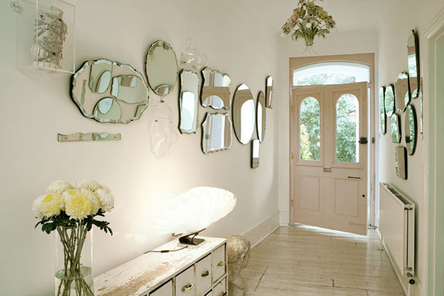 Mirrors on the Wall to make a Pretty Hall