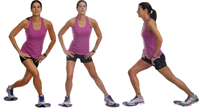 Pivoting Curtsy Lunge