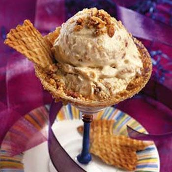 Coffee Ice Cream With Almond Caramel Crunch Without Ice Cream Maker