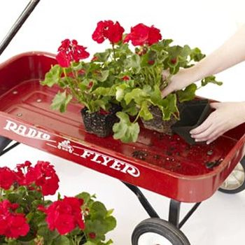 Decor Your Garden With Wagon Flower Display