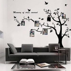 Decor Your Home Wall with Photo Frame Tree