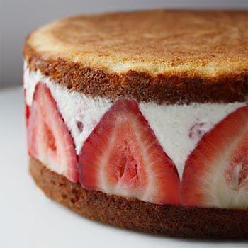 Instant Strawberry Ice Cream Cake