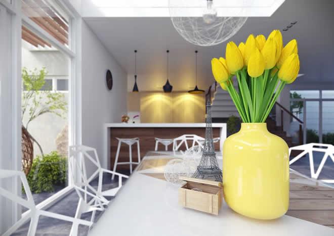 yellow vase pics