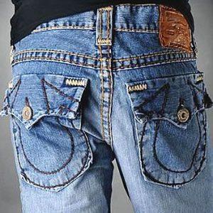 Fashion trend in men's jeans