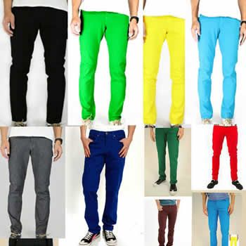 Trendy Skinny Colored Jeans for Men