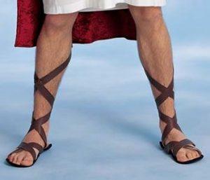 Dressing Men's feet
