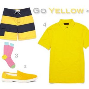 Men's Summer 2012 Color Trend: Yellow