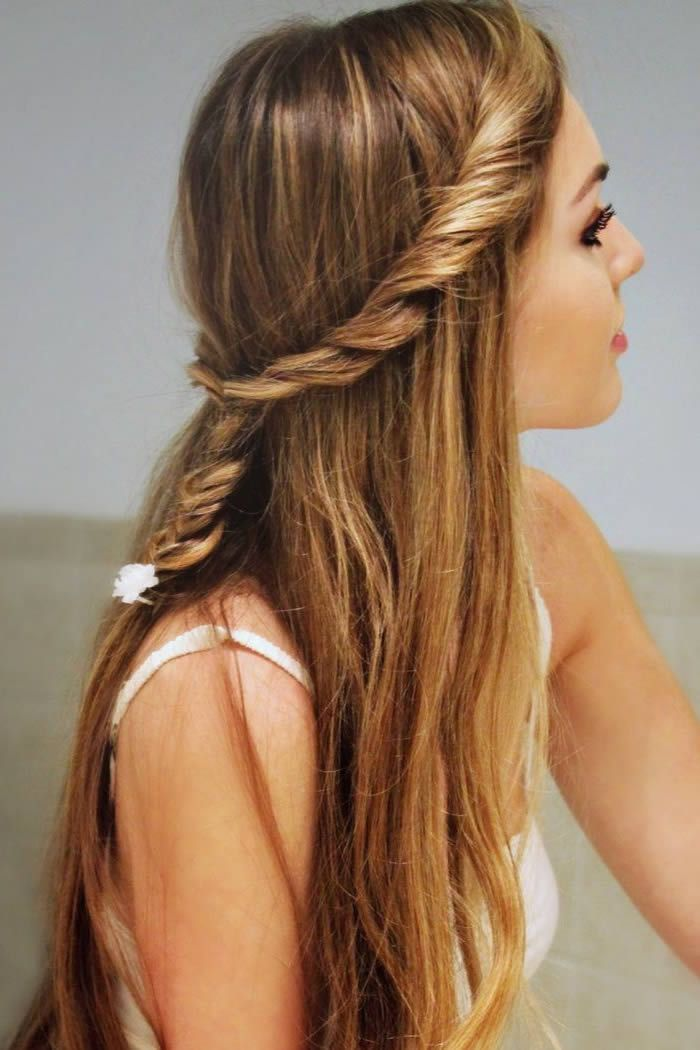 Girly Hairstyles Long Hair Stylish Little Girl Hairstyles