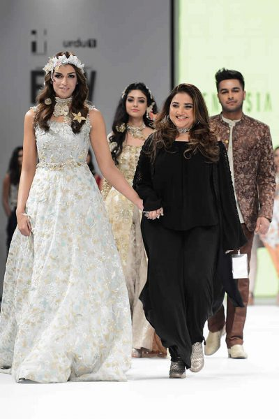 2017 Fashion Pakistan Week FnkAsia Formal Dresses Pics