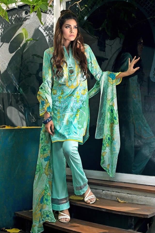 Gul Ahmed Summer Lawn Dresses collection 2017 Pics