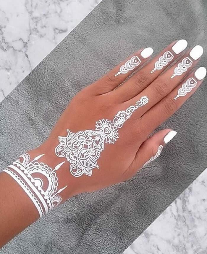 White Mehendi