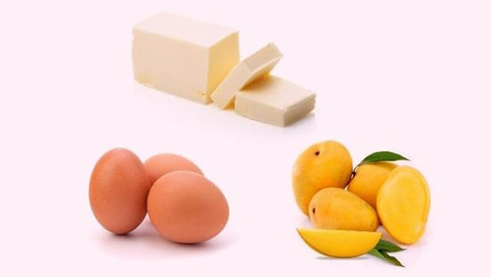 Mango With Egg Yolk Hair Pack