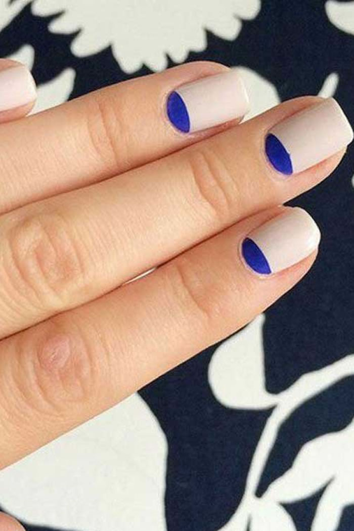 Reverse French Mani Nails