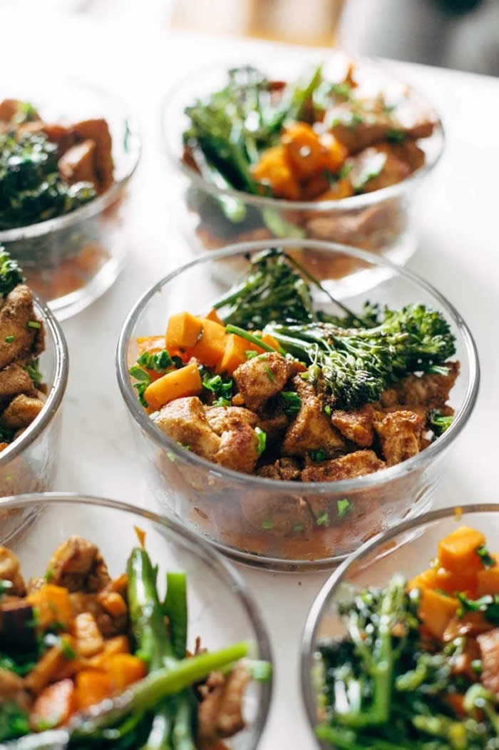 Spicy Chicken and Sweet Potato Bowls