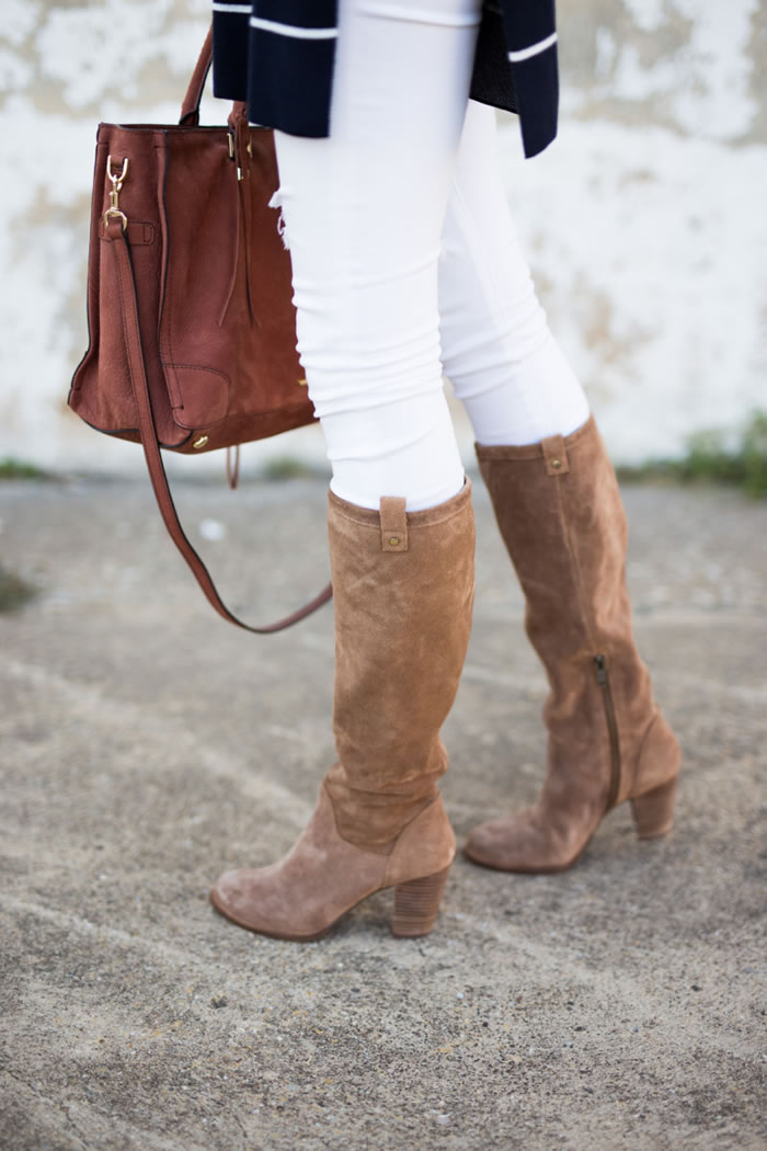 Croco Tall Suede Boot
