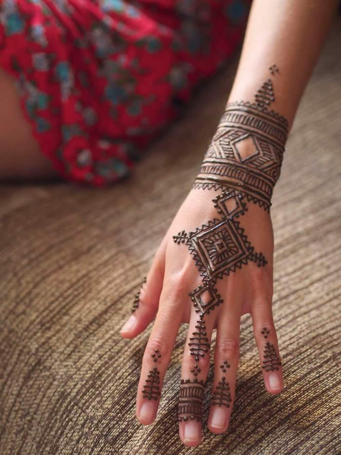 Tribal Mehndi Designs