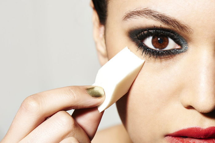 Use a makeup sponge